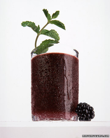 Here's a delicious twist on the classic, a Blackberry-Mint Julep (marthastewart.com)