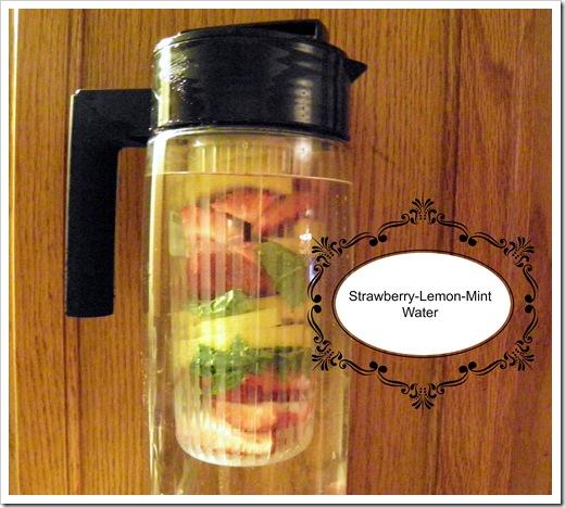 Strawberry-Lemon-Mint Water