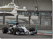 Rosberg nei test di Abu Dhabi 2014