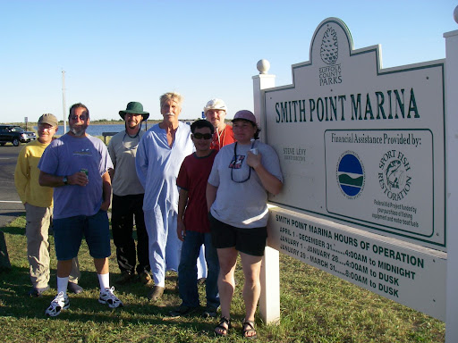 Smith Point Marina - says so right there! Can't wait for next year. Montauk Ho!