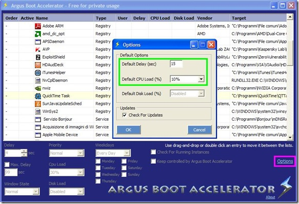 Argus Boot Accelerator Free