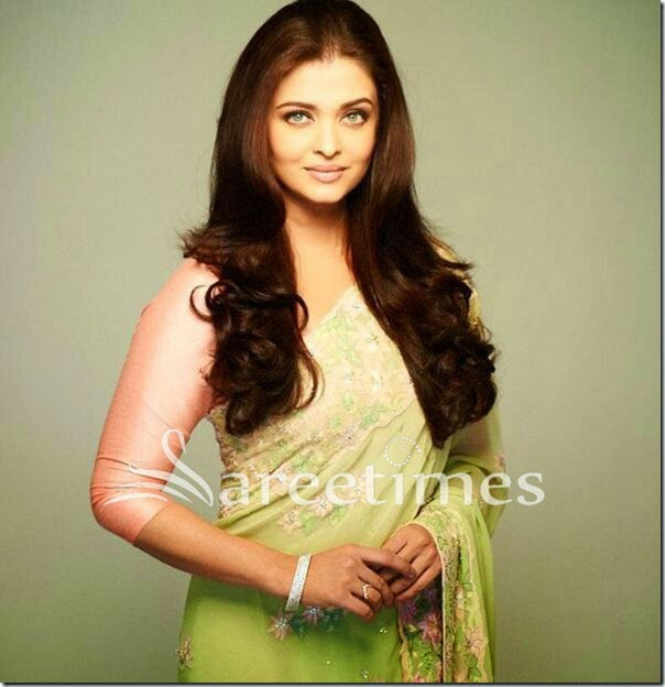 Aishwarya_Rai_Green_Saree