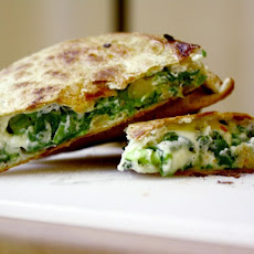 Cook the Book: Spinach Pie Quesadilla