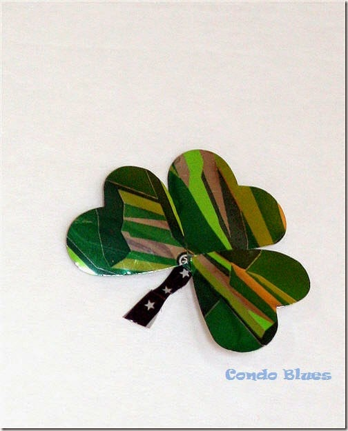 aluminun can craft shamrock