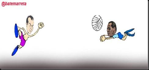 cabral e joão peixoto jogando bola