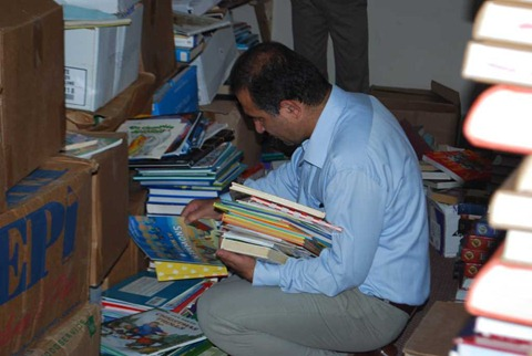 Sorting the books donated by Rotary Books for the World  (16)