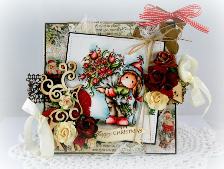 Claudia_Rosa_Tilda w christmas flowers