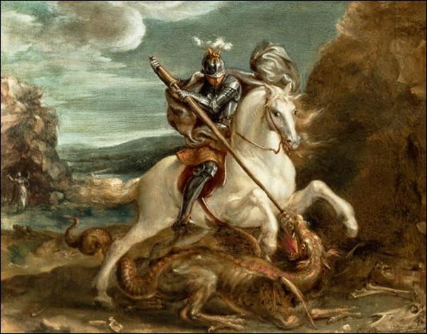 Hans Von Aachen, St Georges et le dragon