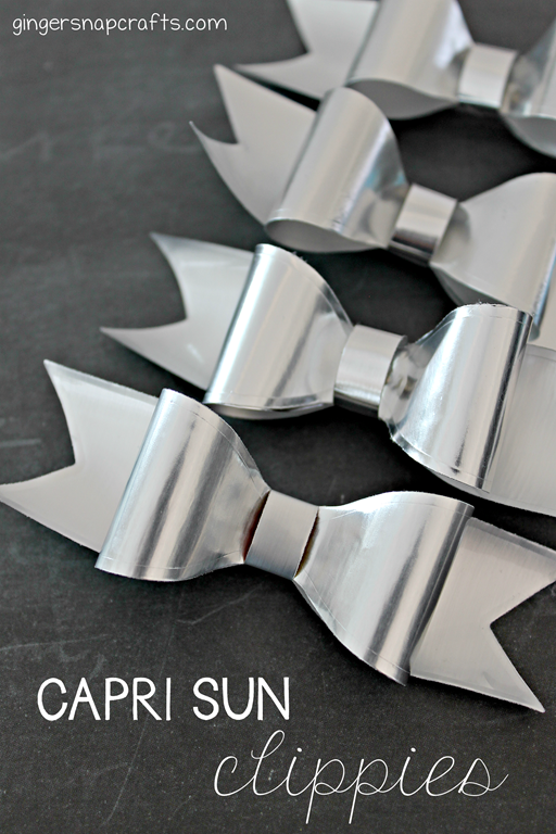 Capri Sun Hair Clippies Tutorial at GingerSnapCrafts.com #caprisunmomfactor #spon