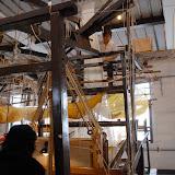 絹織り機。南京にあるシルク博物館にて。