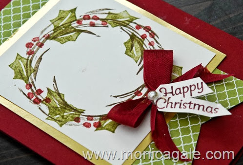 Stampin'Up! Undefined-Carved 2 step Wreath 2
