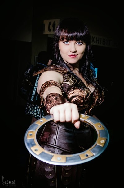 Xena Warrior Princess Cosplay by Bernadette Bentley via Reddit