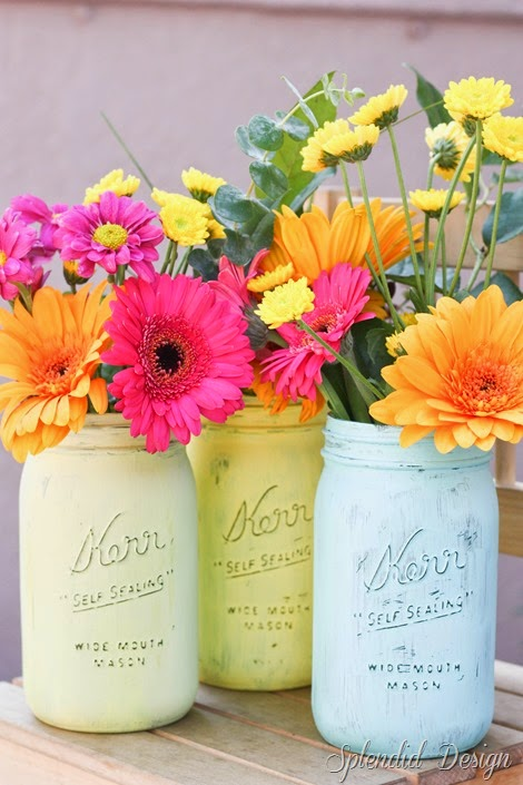 painted mason jars project