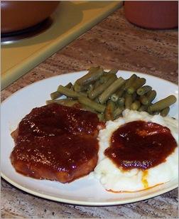 My Saturday pork chops