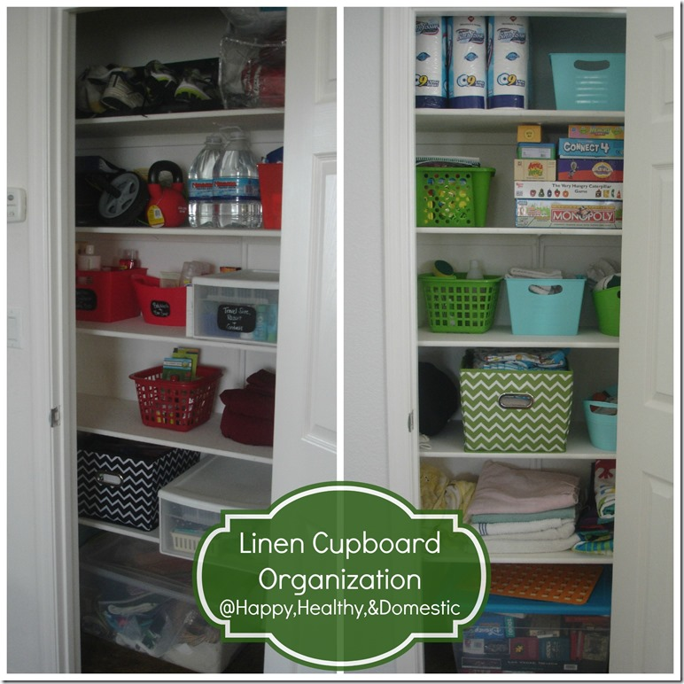 Linen Cupboard Organization
