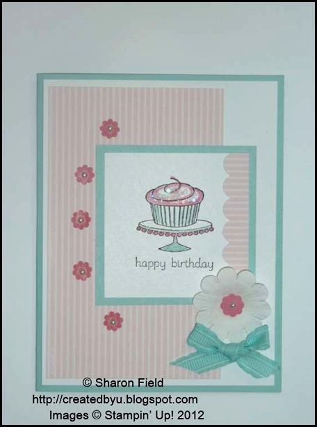 soft and sweet easy events cupcake birthday card by sharon field