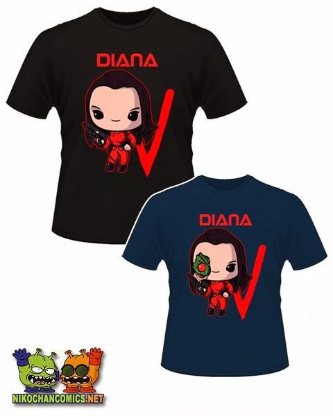 Diseños kawaii para las camisetas de Diana de V los Visitantes