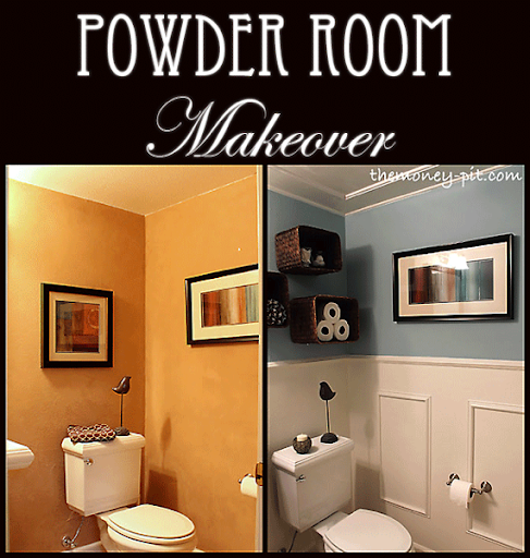 Powder Room Makeover Impressive Of Makeover Powder Room Bathroom Image