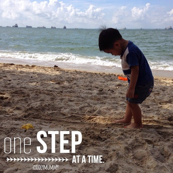 A one step at a time