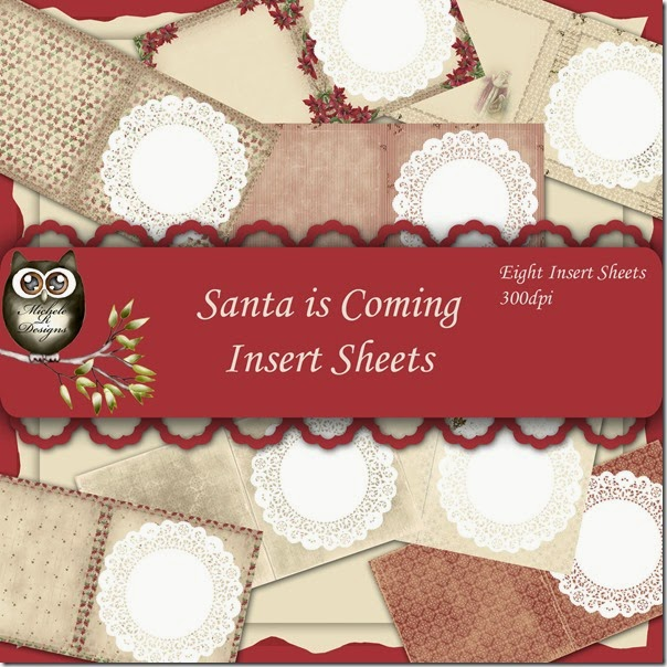 Santa is Coming Inserts Front Page