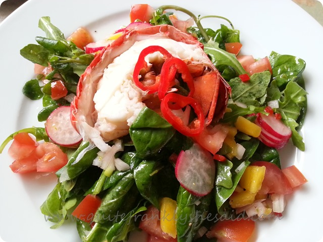 Lobster & mango salad 1