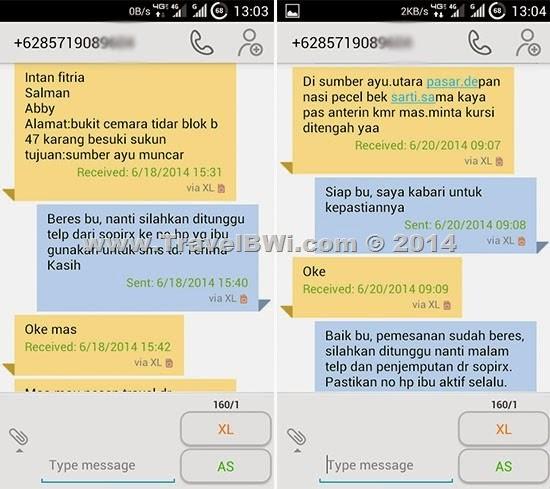SMS Penumpang Berlangganan