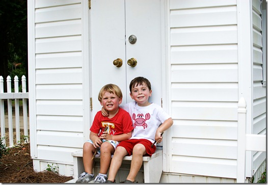 Troy and Colt at little house 2
