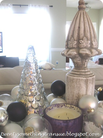 Purple Christmas Tablescape 5