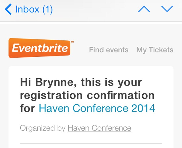 Haven confirmation