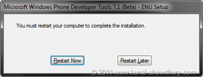 WP7.1 Mango SDK Beta 2 Installation Screen 8