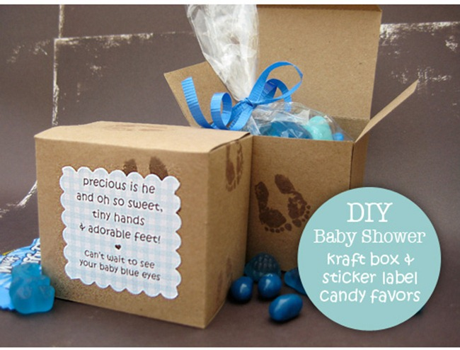 baby shower favor box boy
