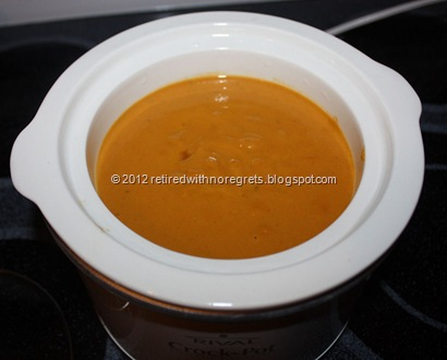 Spicy Carrot Sweet Potato Coconut Cream Soup - ready to heat