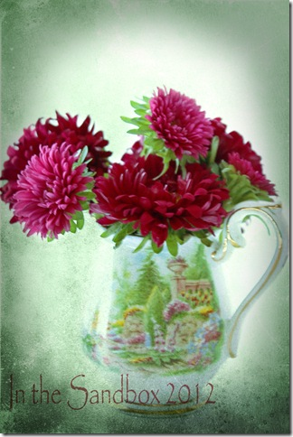 Pink Mums in a vase