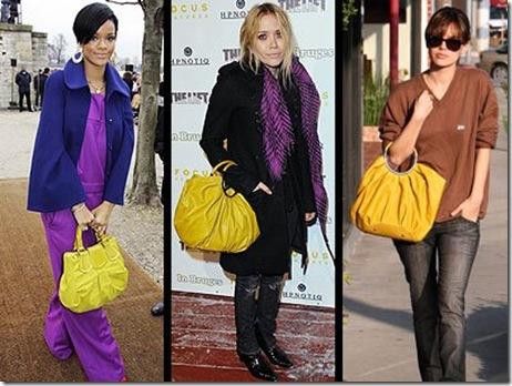 stars yellow bags