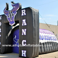 Morton Ranch Mavericks football tunnel.JPG