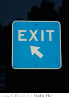 'Exit Sign' photo (c) 2002, Kristin Nador - license: http://creativecommons.org/licenses/by/2.0/