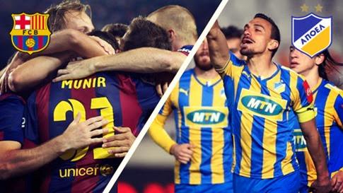 Barcelona vs APOEL en vivo - Champions League
