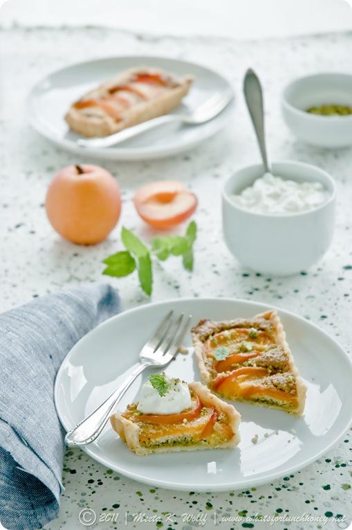 Apricot and Pistachio Frangipane Tart (0057) by Meeta K. Wolff
