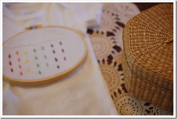 raindrops embroidery
