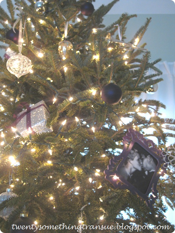 Purple Christmas Tree Decorations and Photo Ornament 010 (2)