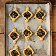 Kale Tarts with Fennel and Olives