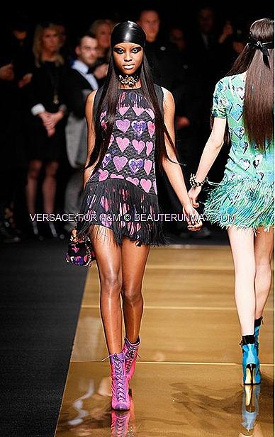 Versace H&M New York Iconic Dress Runway Show Donatella Versace