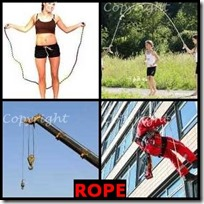 ROPE- 4 Pics 1 Word Answers 3 Letters