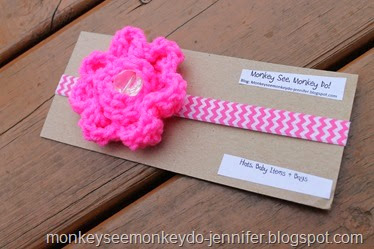 big pink flower headband