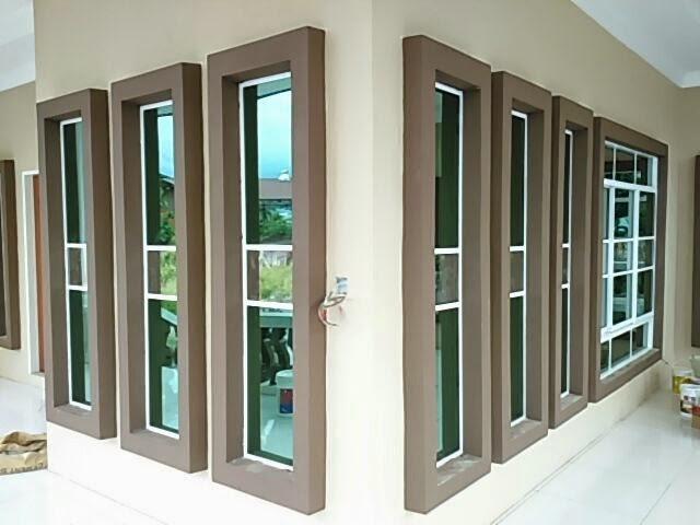 how to clean powder coated aluminium window frames