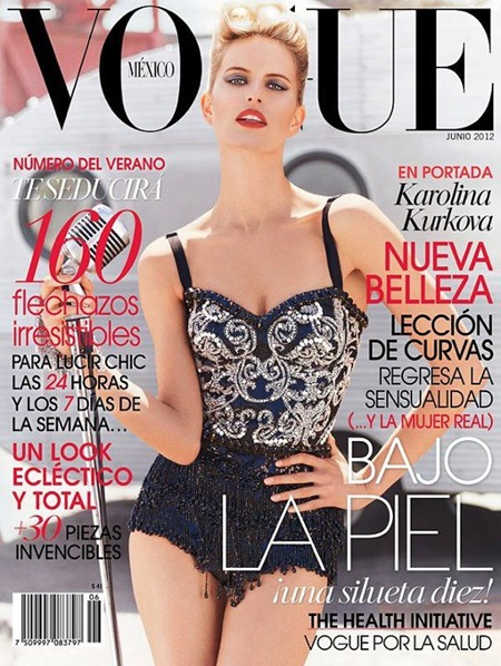 Karolina Kurkova on Vogue Mexico