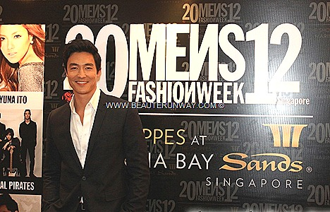 DANIEL HENNEY MEN'S FASHION WEEK SINGAPORE 2012 Se7en SHAWN YUE RON NG JIMMY HUNG YUNA ITO DESIGNER CELEBRITIE MARINA BAY SANDS
