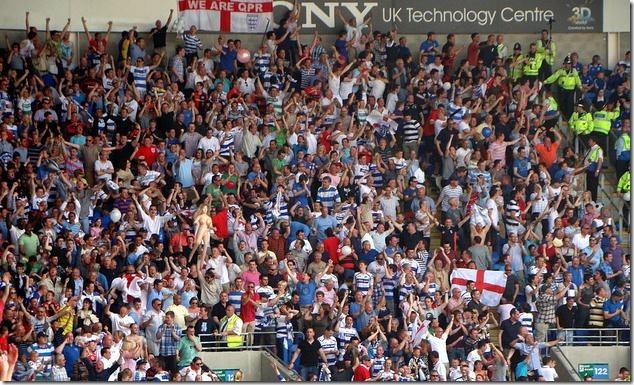 QPR fans celebrating win