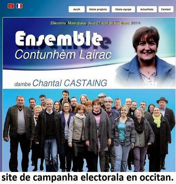 site de campanha bilingüe