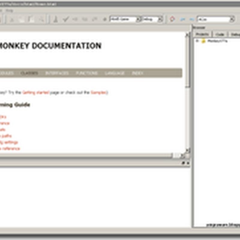 Monkey X - si Monyet Pintar untuk Kreasi Game Multiplatform